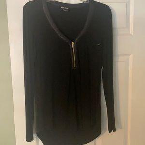 Bebe black long sleeve shirt